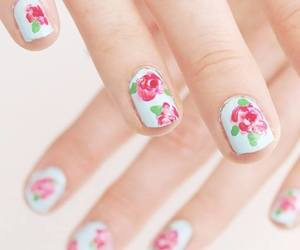 floral, nails, and pretty image