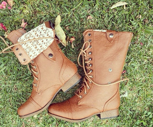 boots, brown, and fall image