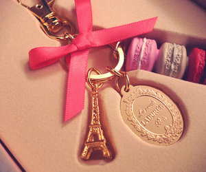 bow, macaroon, and paris image