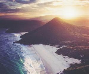 beach, sea, and sun image
