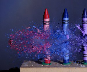 crayon, blue, and colors image
