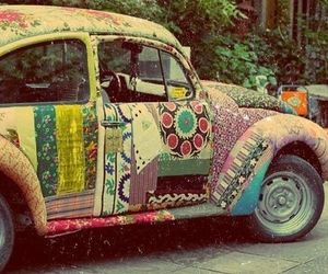 car, vintage, and hippie image