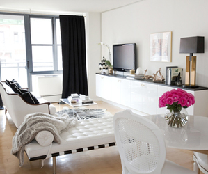 flowers, room, and white image