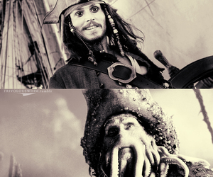 Davy Jones, jack sparrow, and pirates of the caribbean image