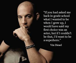 quote and Vin Diesel image