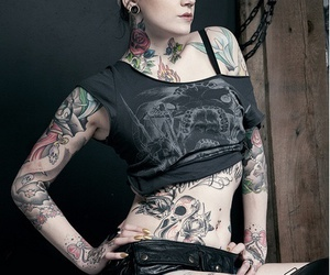 tattoo, girl, and tatto image