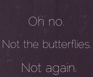 love, butterfly, and quote image