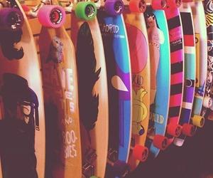 skate, longboard, and boy image