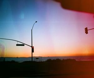 beach, california, and light image