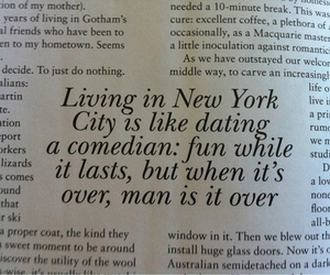 Living In New York Is Like Dating A Comedian