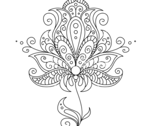 floral, flower, and henna image