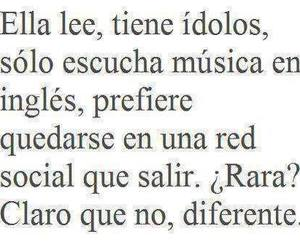 diferente, music, and frases image