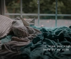 bed and i miss you image