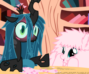 changeling, chrysalis, and fluffle puff image