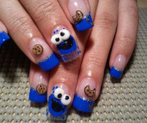 nails, blue, and cookie image