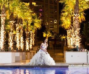 bride, lights, and luxury image