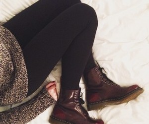 doc martins, legs, and lol image