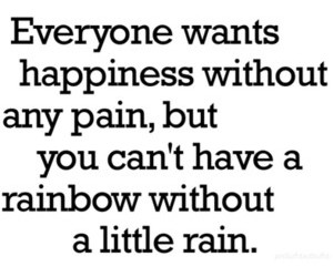 happiness, rainbow, and pain image