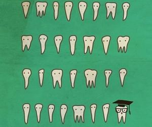 teeth, funny, and illustration image
