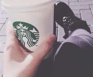 coffee, doc martens, and grunge image