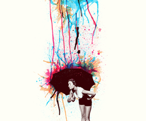 art, umbrella, and colorful image