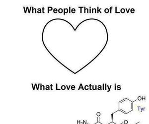 love, chemistry, and science image