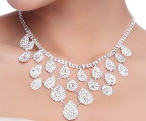 bridal, charming, and necklace image