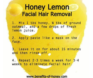 face, honey, and facial hair removal image