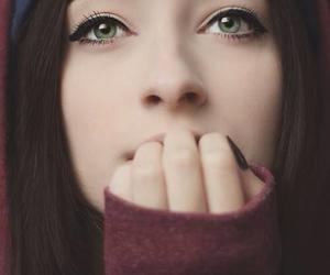 girl, eyes, and green eyes image
