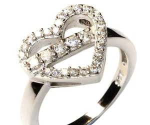 ring, heart promise ring, and promise ring image