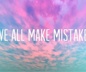mistakes, quote, and sky image