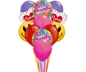 balloons delivery, anniversary balloons, and balloons bouquet image