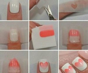 nails, heart, and pink image