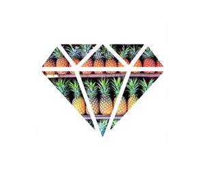 diamond, pineapple, and grunge image