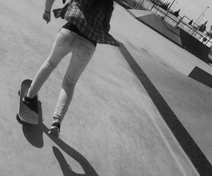 girl, skater, and skate image