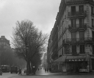 1950, black and white, and france image