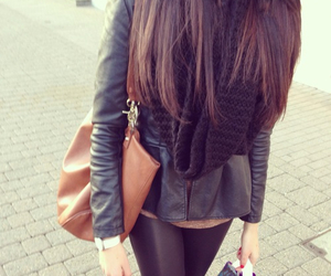 bag, casual, and black image