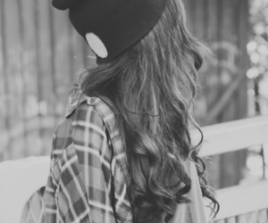 black and white, cool, and long hair image