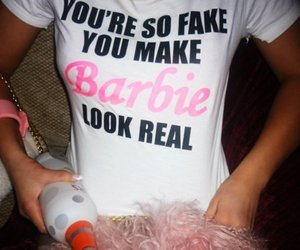 real, barbie, and fake image