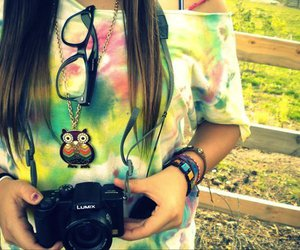 beautiful, camera, and girl image