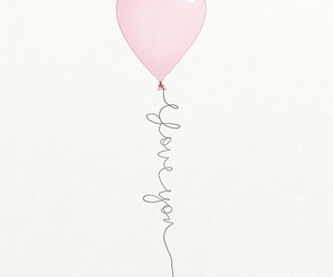 amor, love you, and balloon image