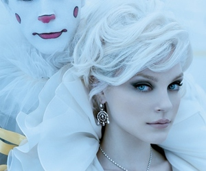 clown, Jessica Stam, and white image