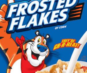 cereal, Frosted Flakes, and yummy image