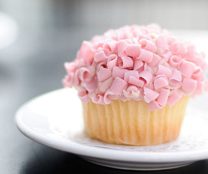 cupcake, pink, and food image