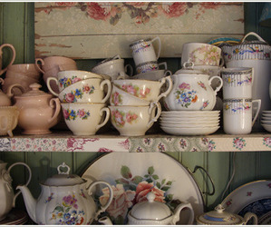 dishes, indie, and tea image