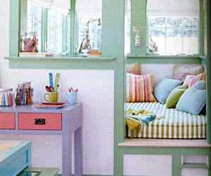 colorful, home, and pastel image