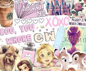 disney, princess, and Collage image