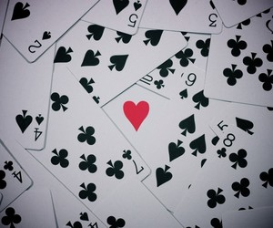 cards, heart, and love image