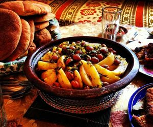 food, moroccan, and tajine image