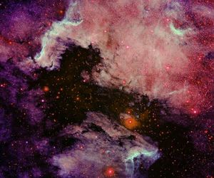 galaxy, purple, and space image